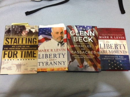 Books: Stalling For Time; Liberty And Tyranny; Miracles And Massacres; The Liberty Amendments