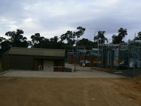 Mount Ainslie substation in August 2006