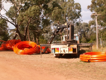 Conduit and UEA Truck on Mount Ainslie