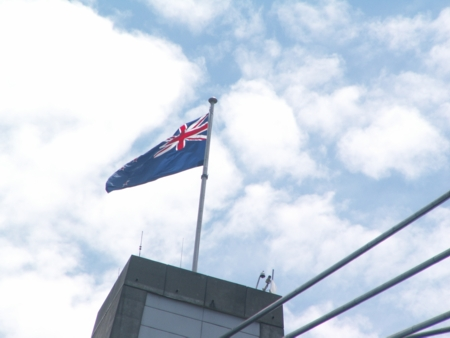 Australian Flag on ANZAC Bridge