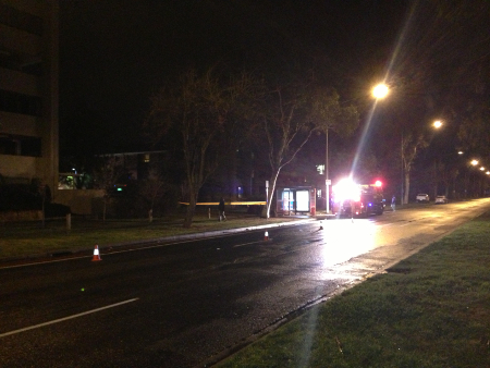 Northbourne Avenue north-bound partially closed due to the Condamine Court fire