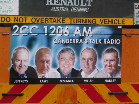 Radio 2CC Ad on ACTION Bus