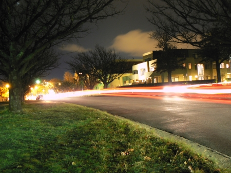 60 second exposure of traffic on Elouera Street in Canberra