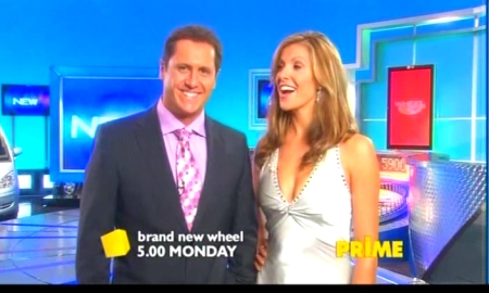 Larry Emdur and Laura Csortan on Wheel Of Fortune