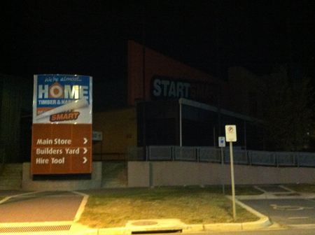 Magnet Mart Gungahlin on the morning of March 20, 2013