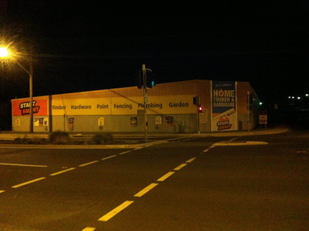 Magnet Mart Queanbeyan on the morning of March 20, 2013