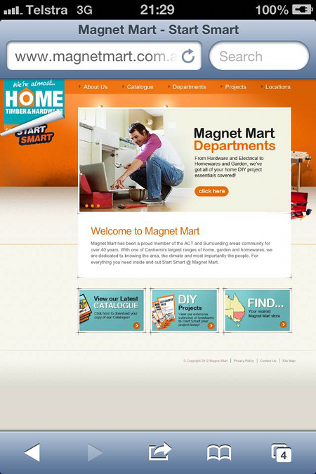 Magnet Mart website on the night of March 19, 2013