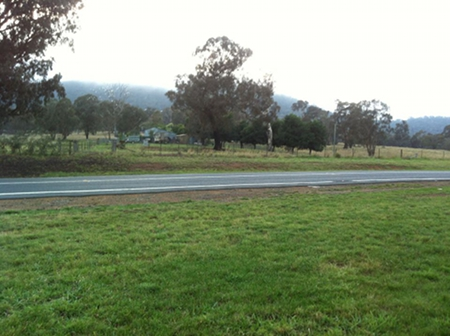 Mount Majura in the fog