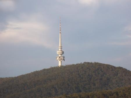 Telstra Tower from a balloon