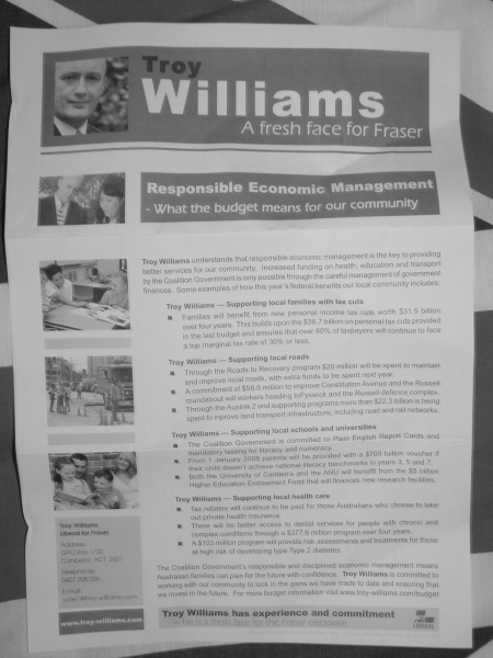 Troy Williams' August 2007 Flyer